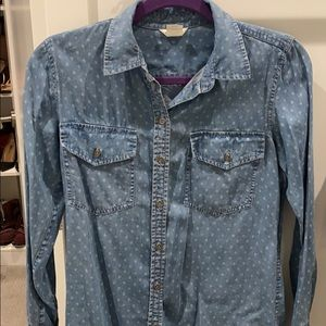 Jean shirt button down